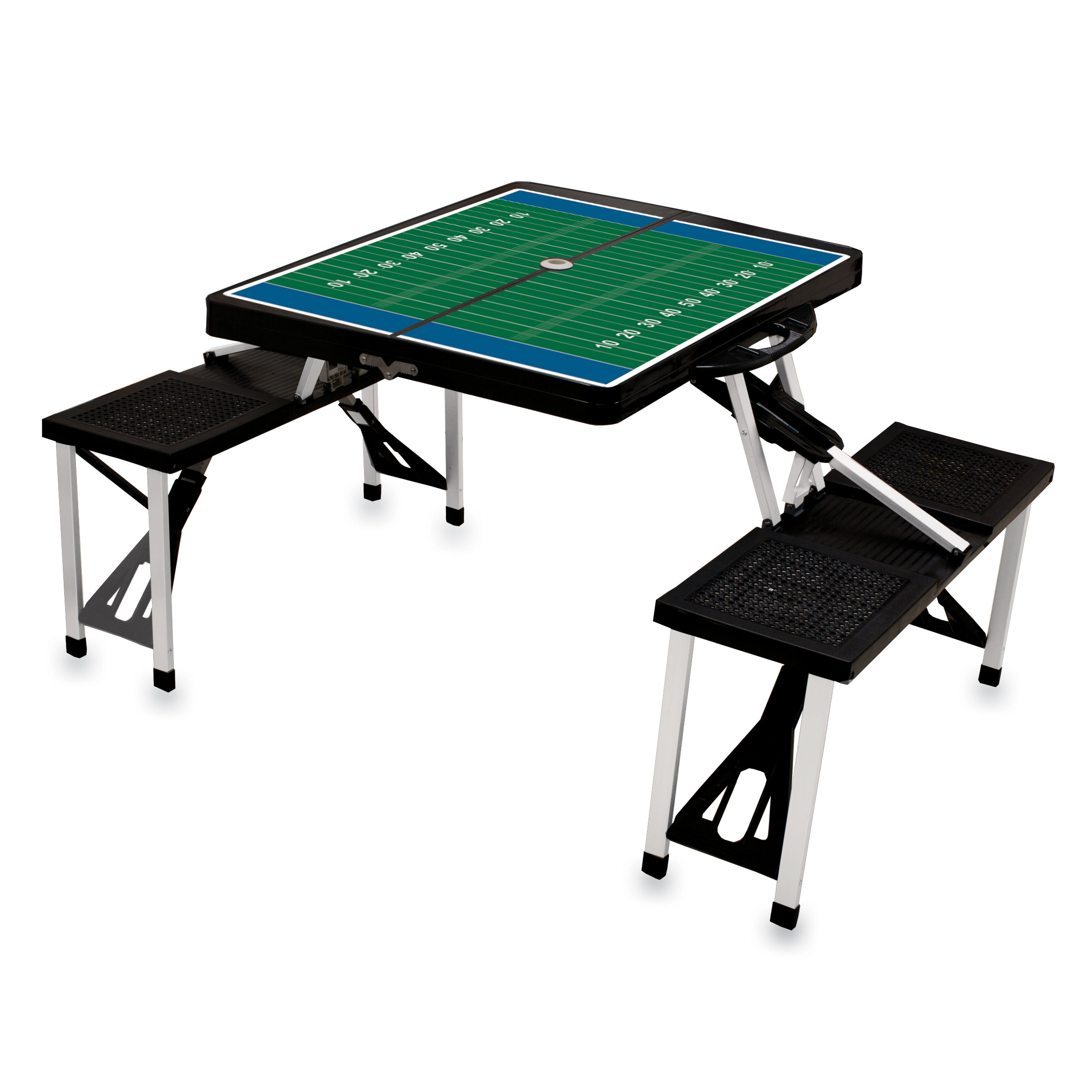 Picnic Table Portable Table And Seats Black