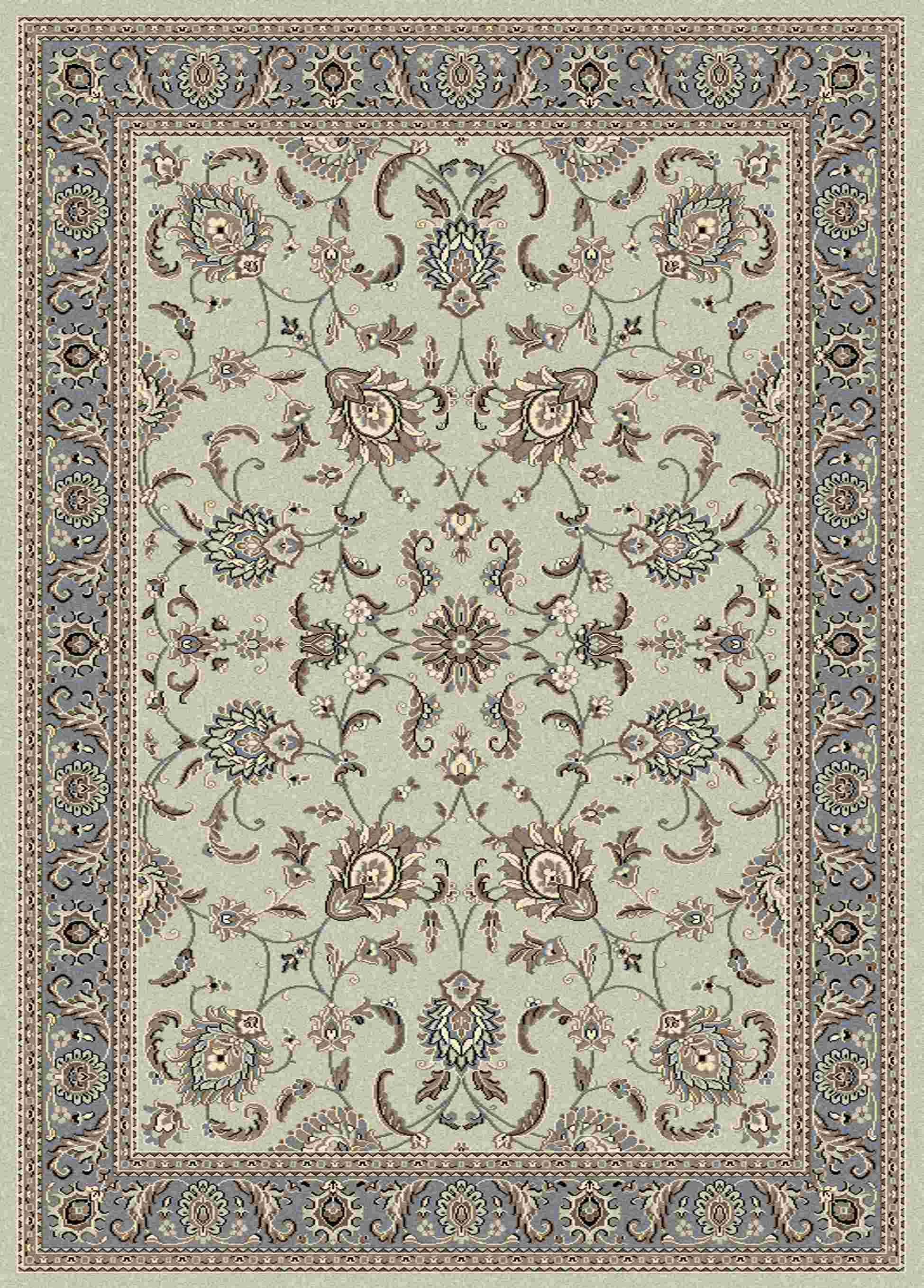 Radici Usa Alba 1426 Green Traditional Area Rug