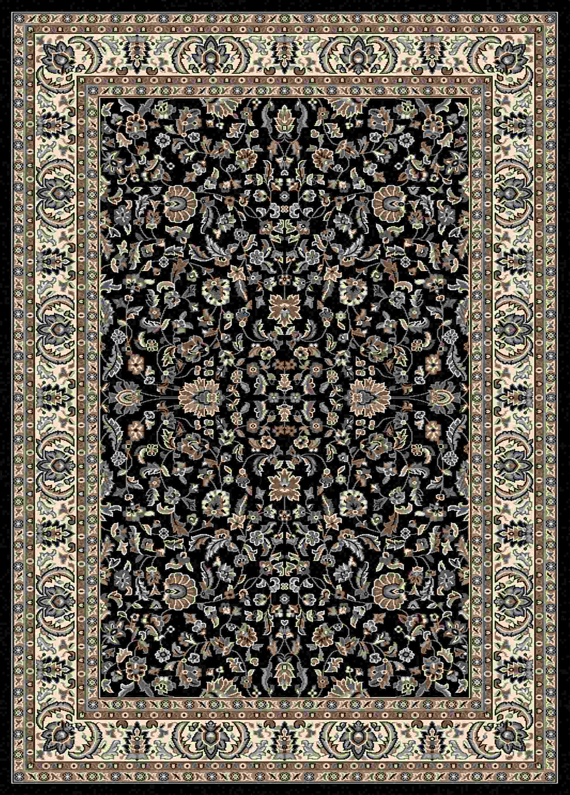 Radici Usa Alba 1767 Black Traditional Area Rug
