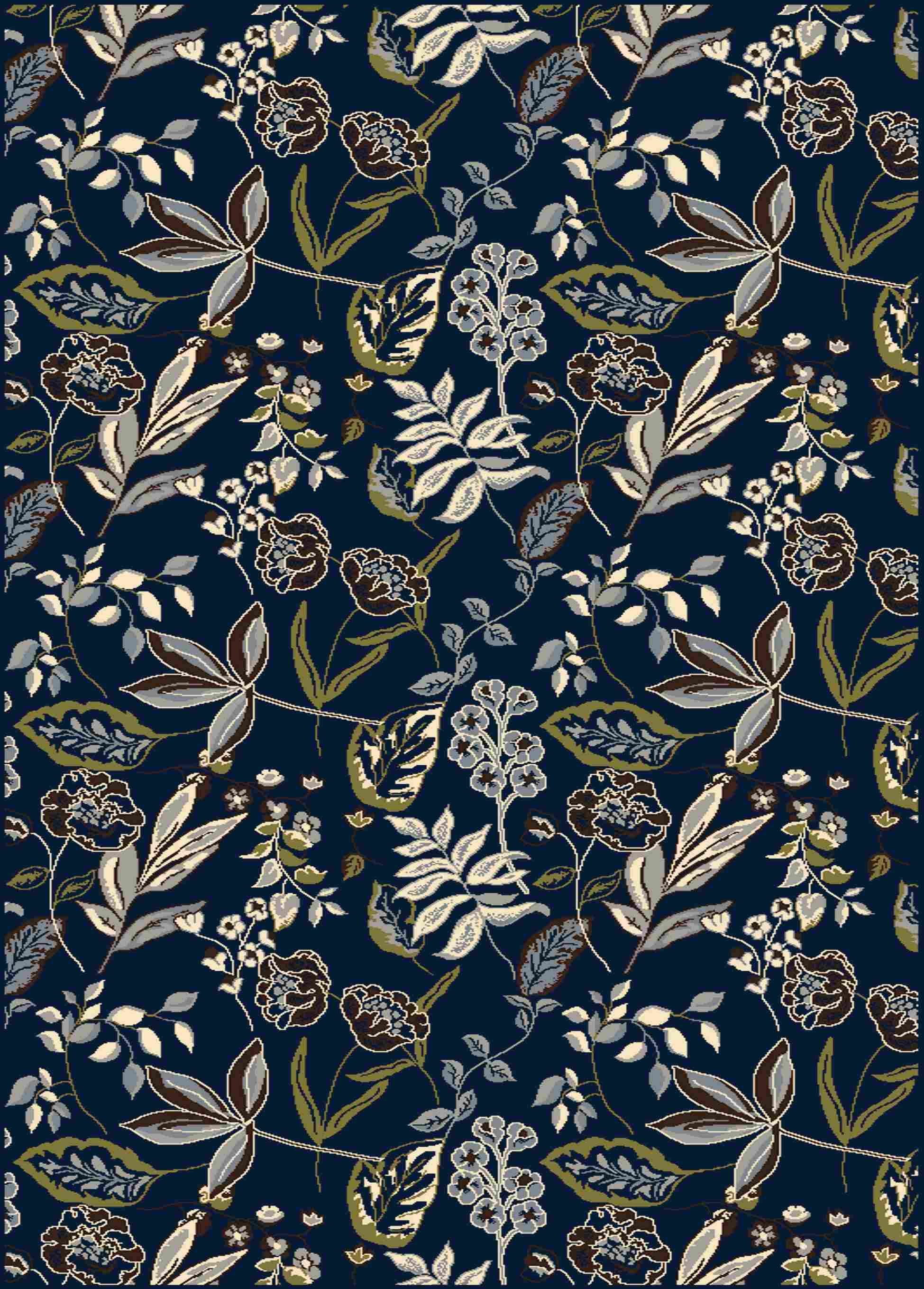 Radici Usa Alba 1857 Blue Traditional Area Rug
