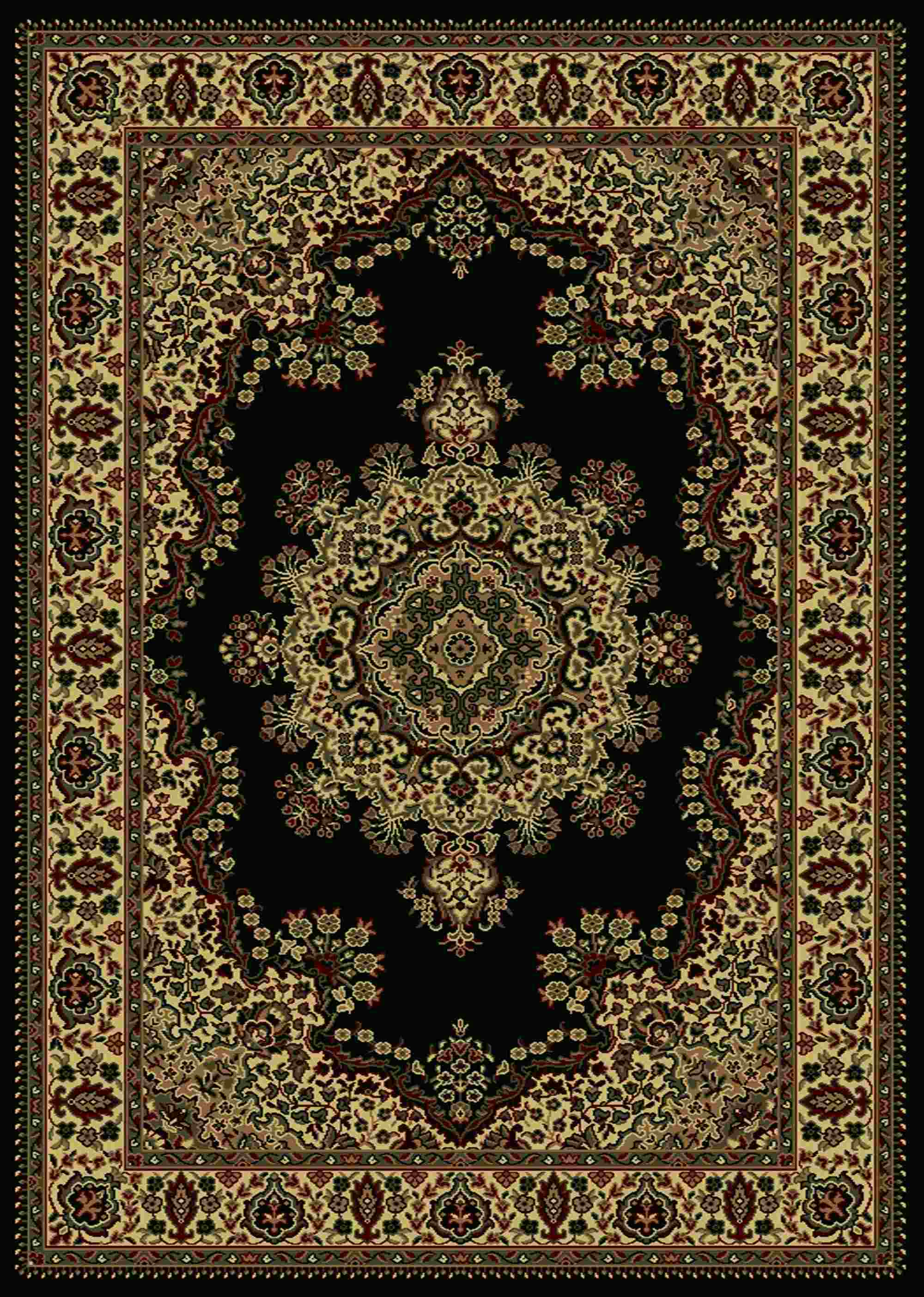 Radici Usa Castello 1191 Black Traditional Area Rug