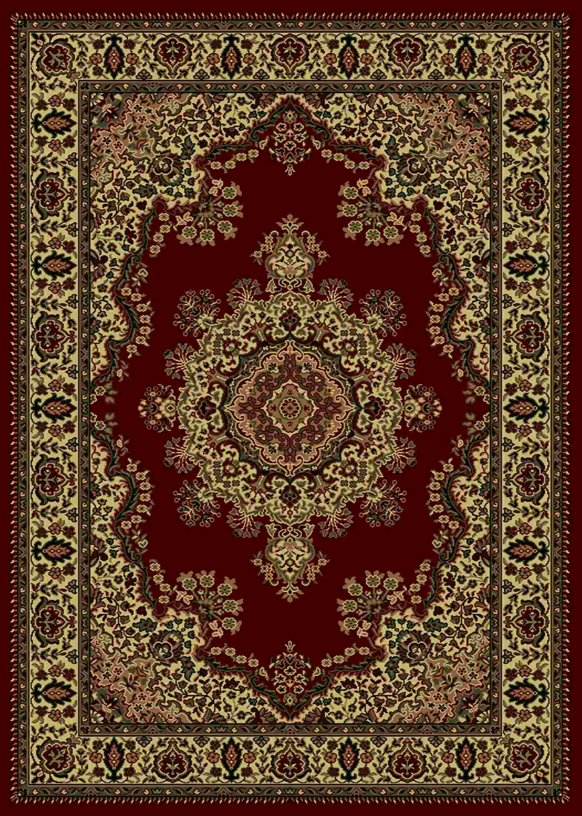 Radici Usa Castello 1191 Burgundy Traditional Area Rug