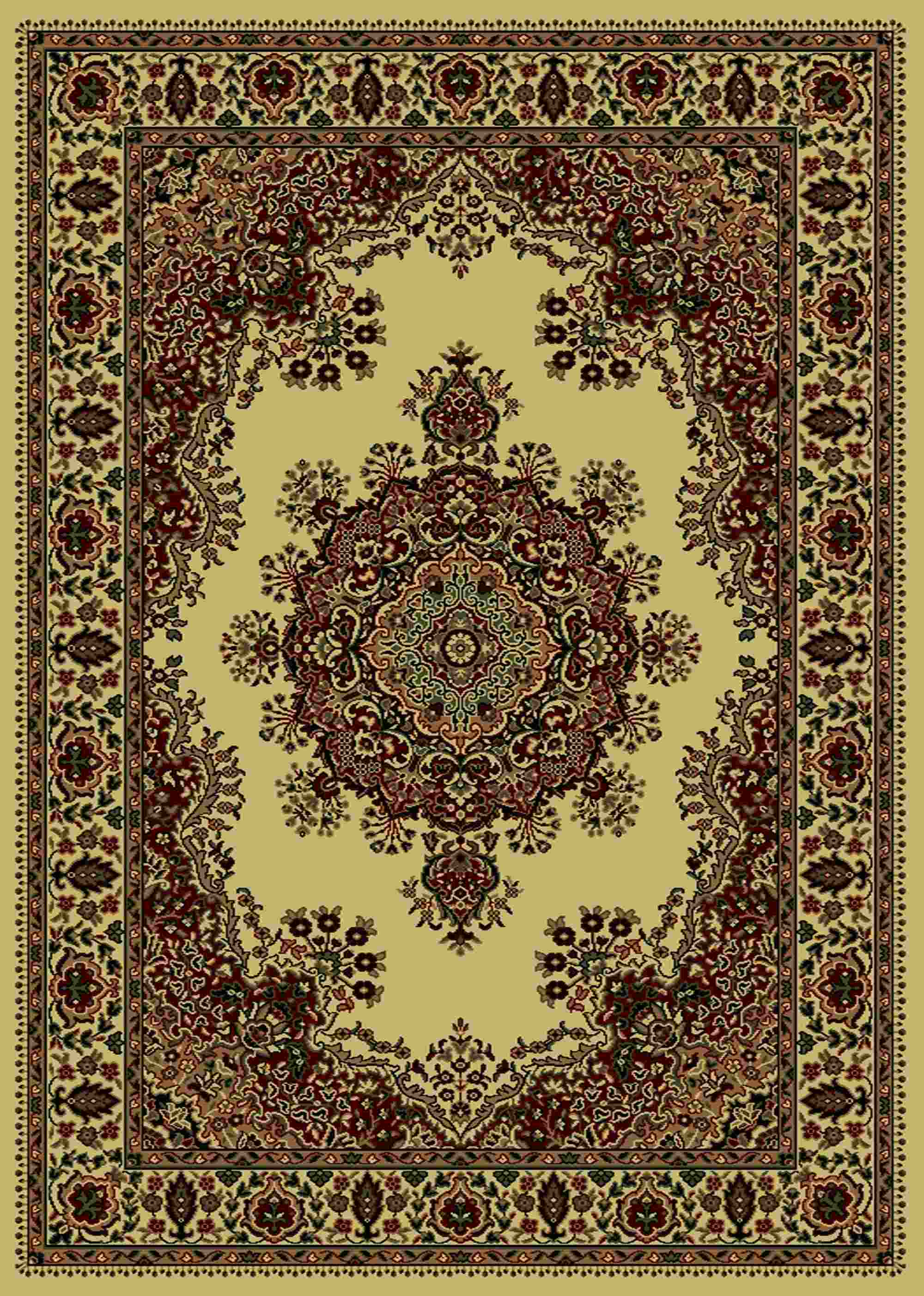 Radici Usa Castello 1191 Ivory Traditional Area Rug