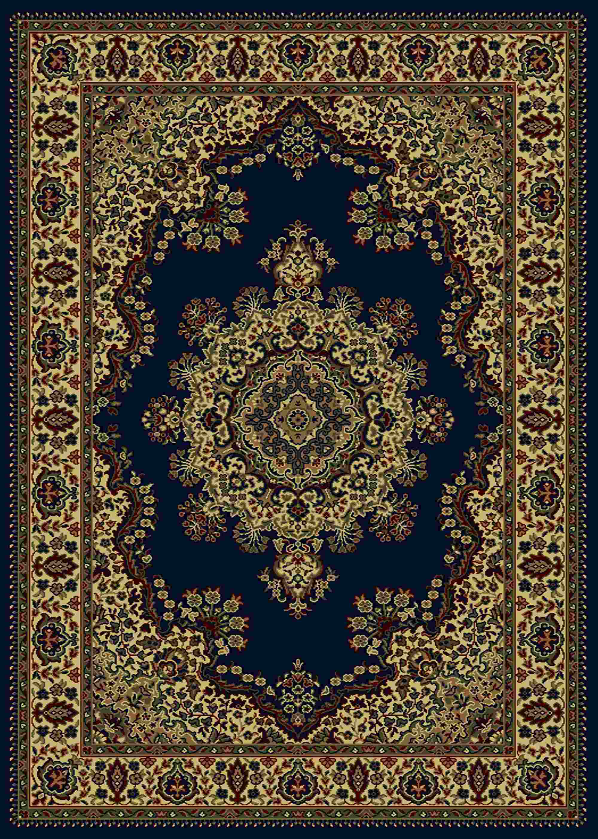 Radici Usa Castello 1191 Blue Traditional Area Rug