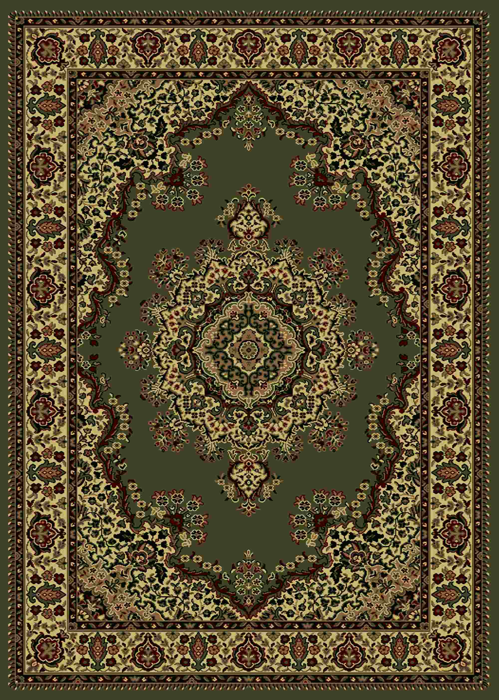 Radici Usa Castello 1191 Green Traditional Area Rug