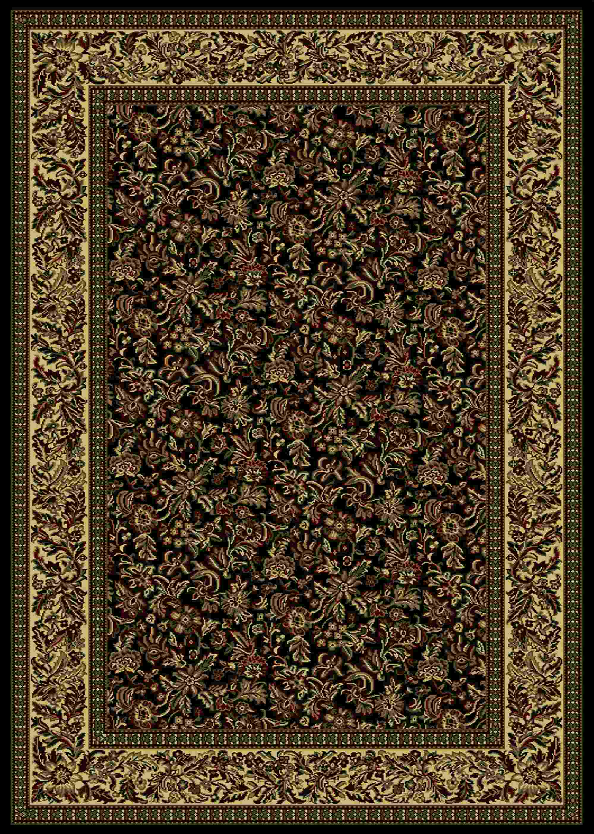 Radici Usa Castello 1219 Black Traditional Area Rug