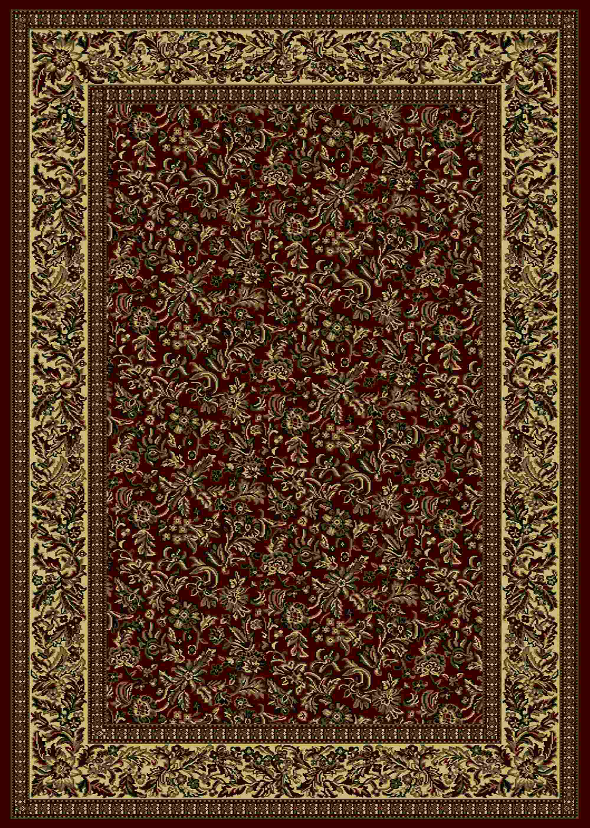 Radici Usa Castello 1219 Burgundy Traditional Area Rug