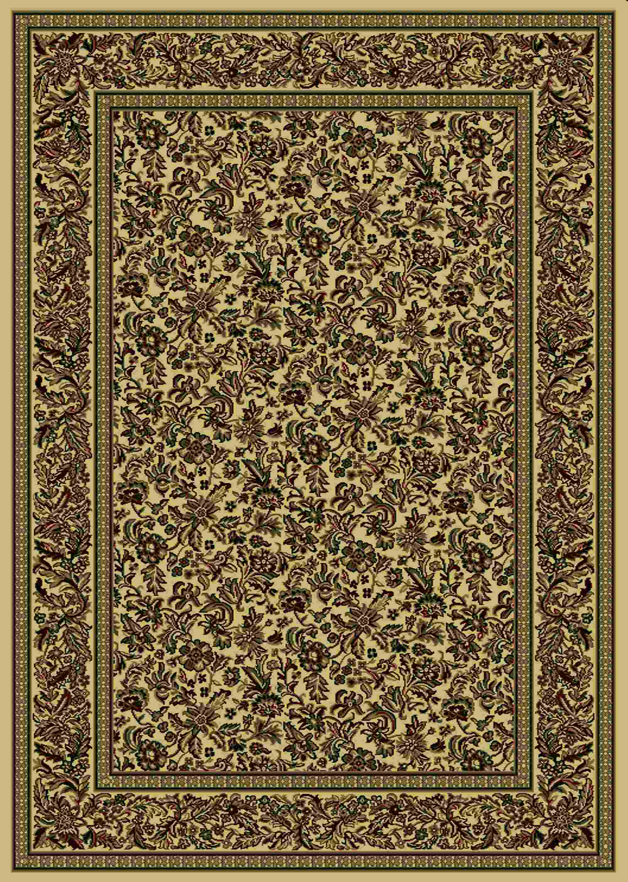 Radici Usa Castello 1219 Ivory Traditional Area Rug