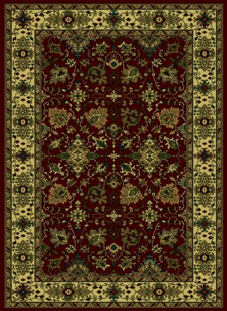 Radici Usa Castello 460 Burgundy Traditional Area Rug