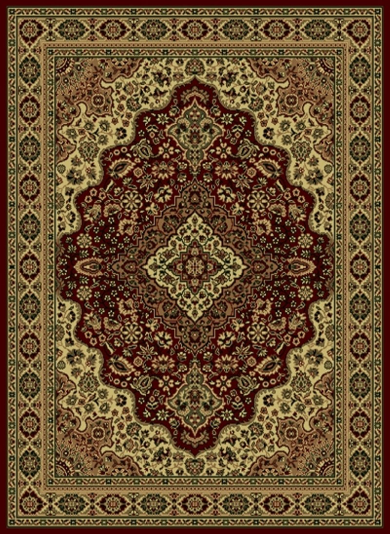 Radici Usa Castello 808 Burgundy Traditional Area Rug
