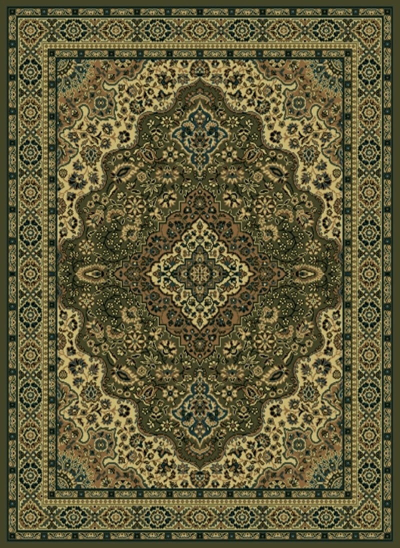 Radici Usa Castello 808 Green Traditional Area Rug