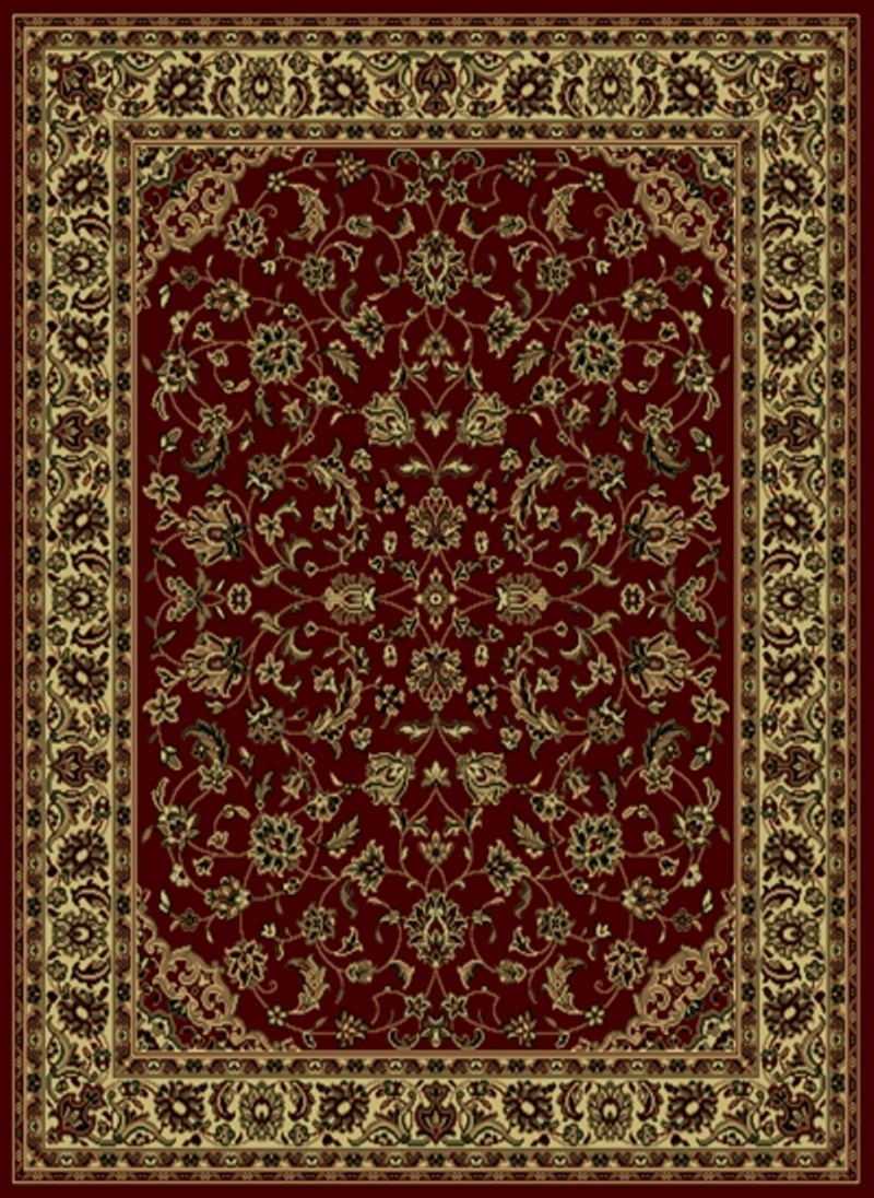 Radici Usa Castello 953 Burgundy Traditional Area Rug