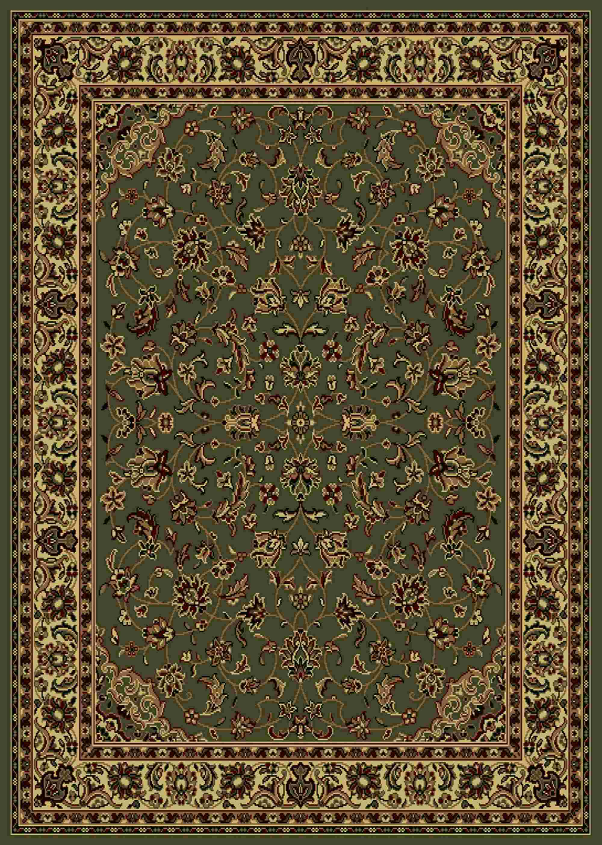 Radici Usa Castello 953 Green Traditional Area Rug