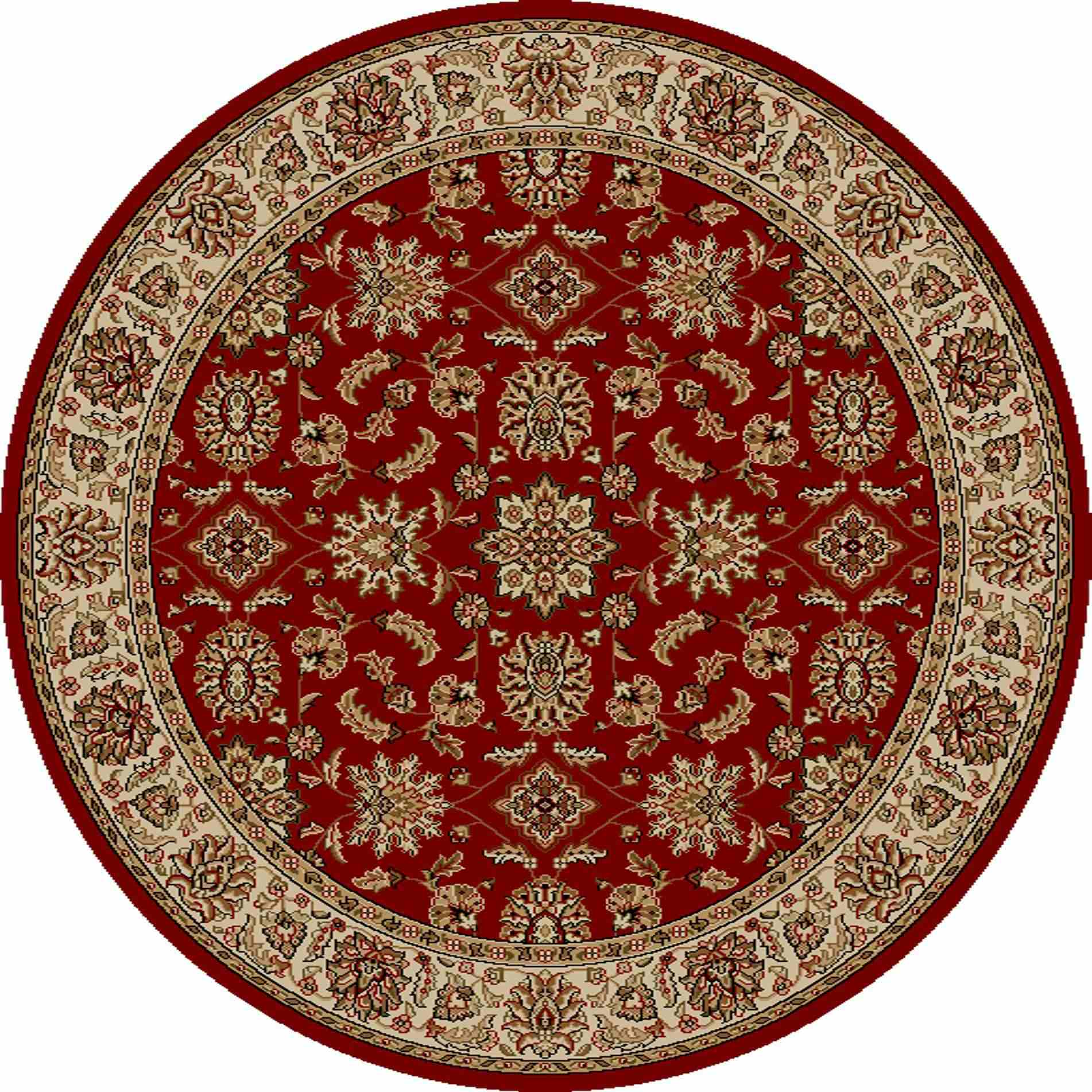 Radici Usa Como 1592 Red Traditional Area Rug
