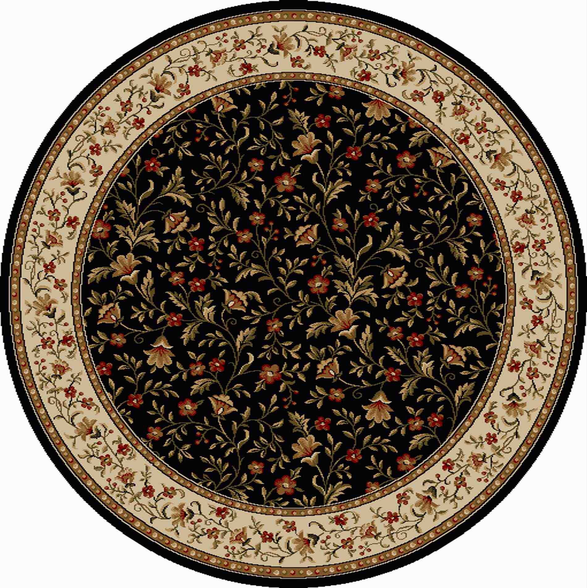 Radici Usa Como 1593 Black Traditional Area Rug