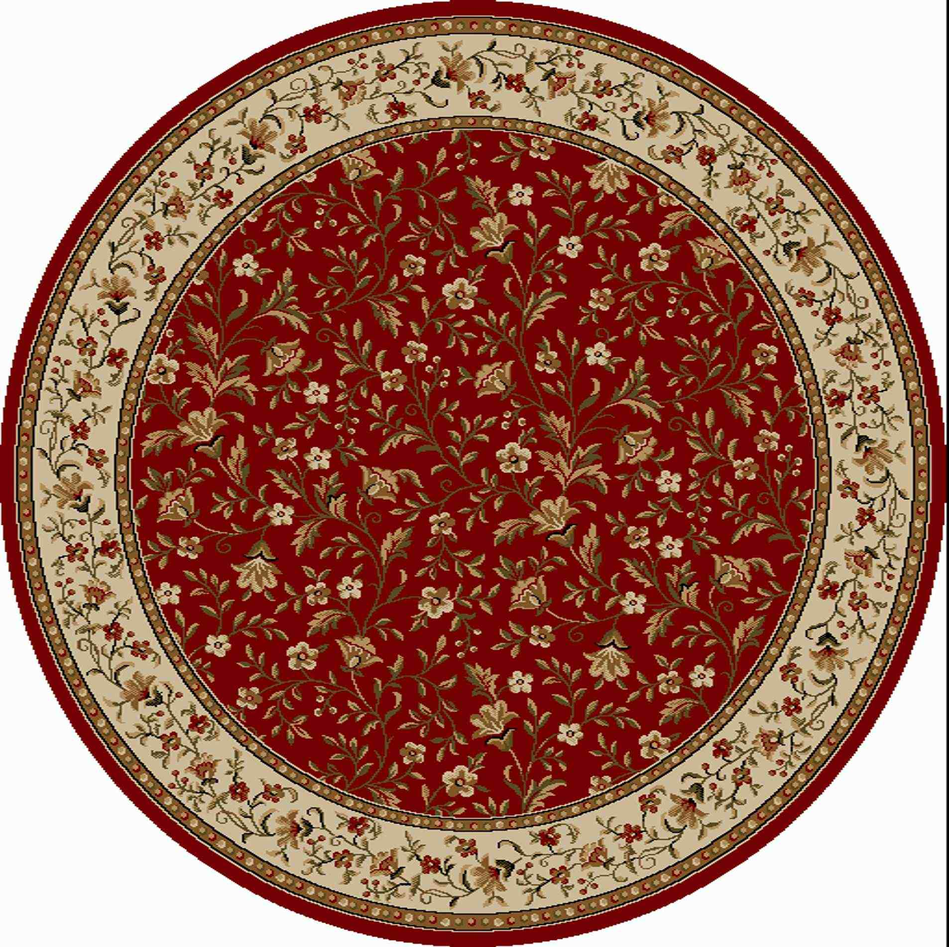 Radici Usa Como 1593 Red Traditional Area Rug