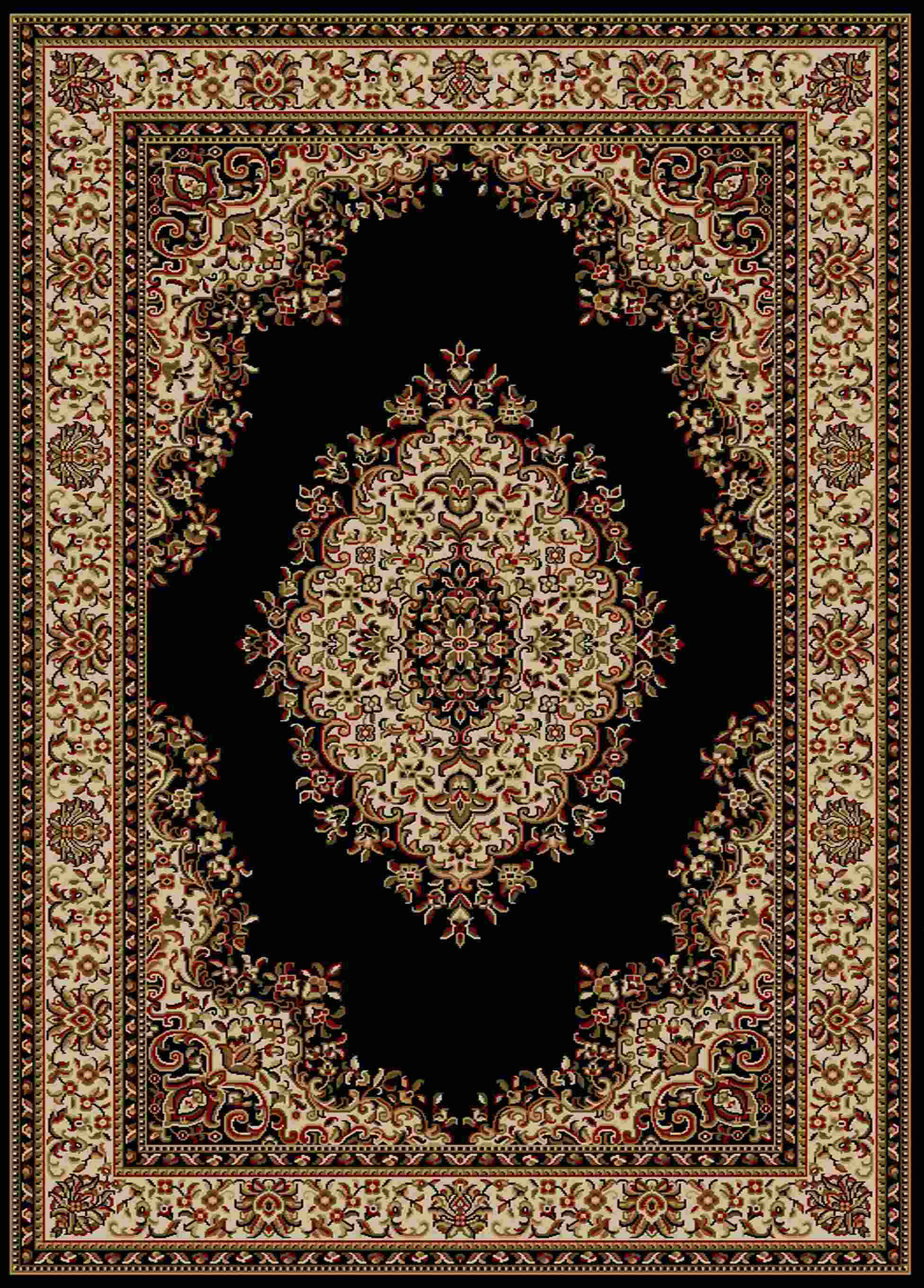 Radici Usa Como 1595 Black Traditional Area Rug