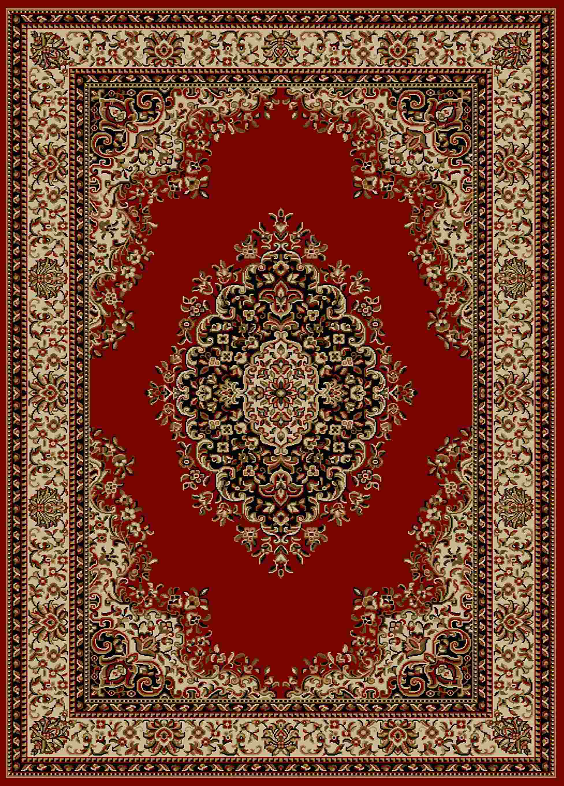 Radici Usa Como 1595 Red Traditional Area Rug