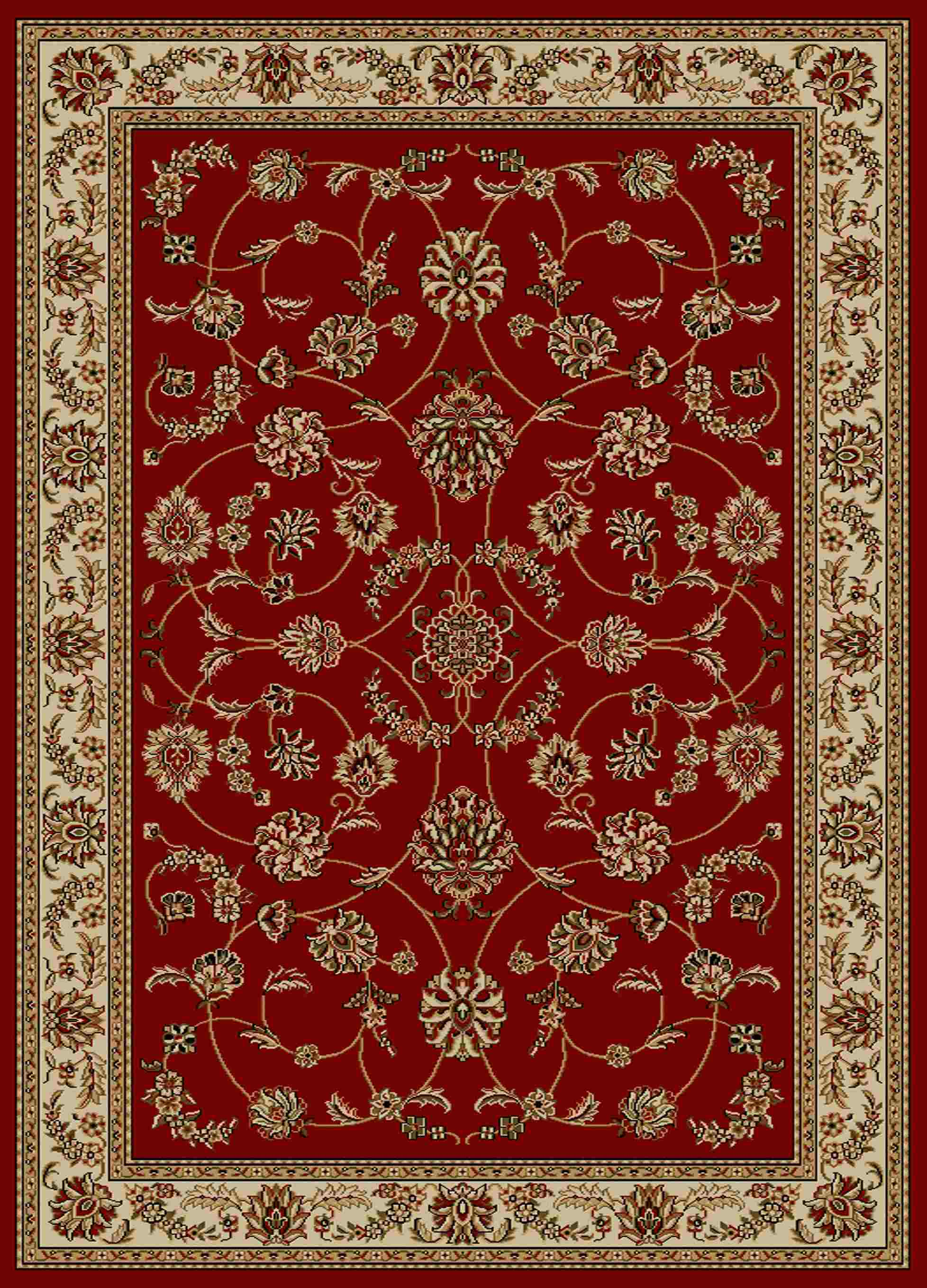 Radici Usa Como 1596 Red Traditional Area Rug
