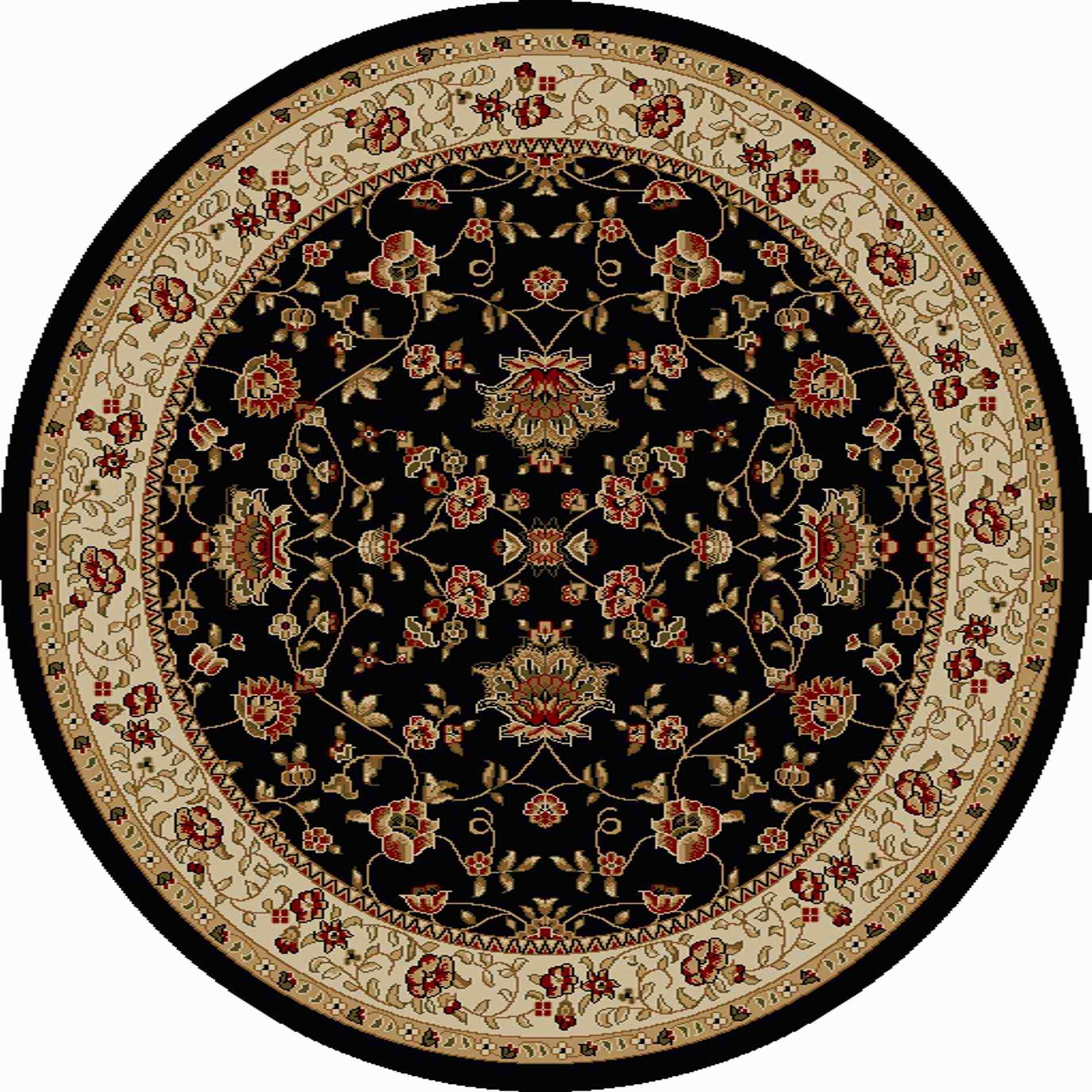 Radici Usa Como 1597 Black Traditional Area Rug