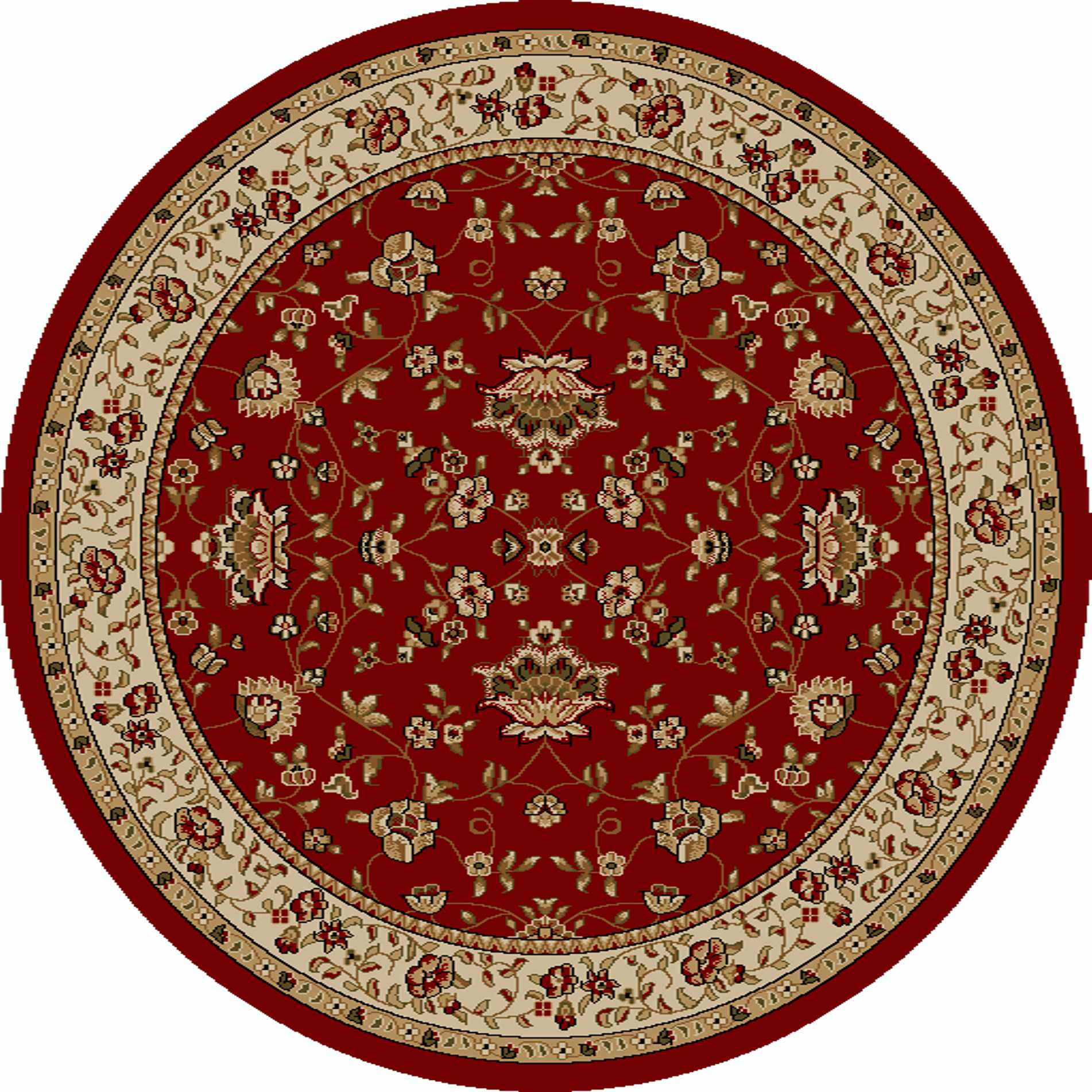 Radici Usa Como 1597 Red Traditional Area Rug
