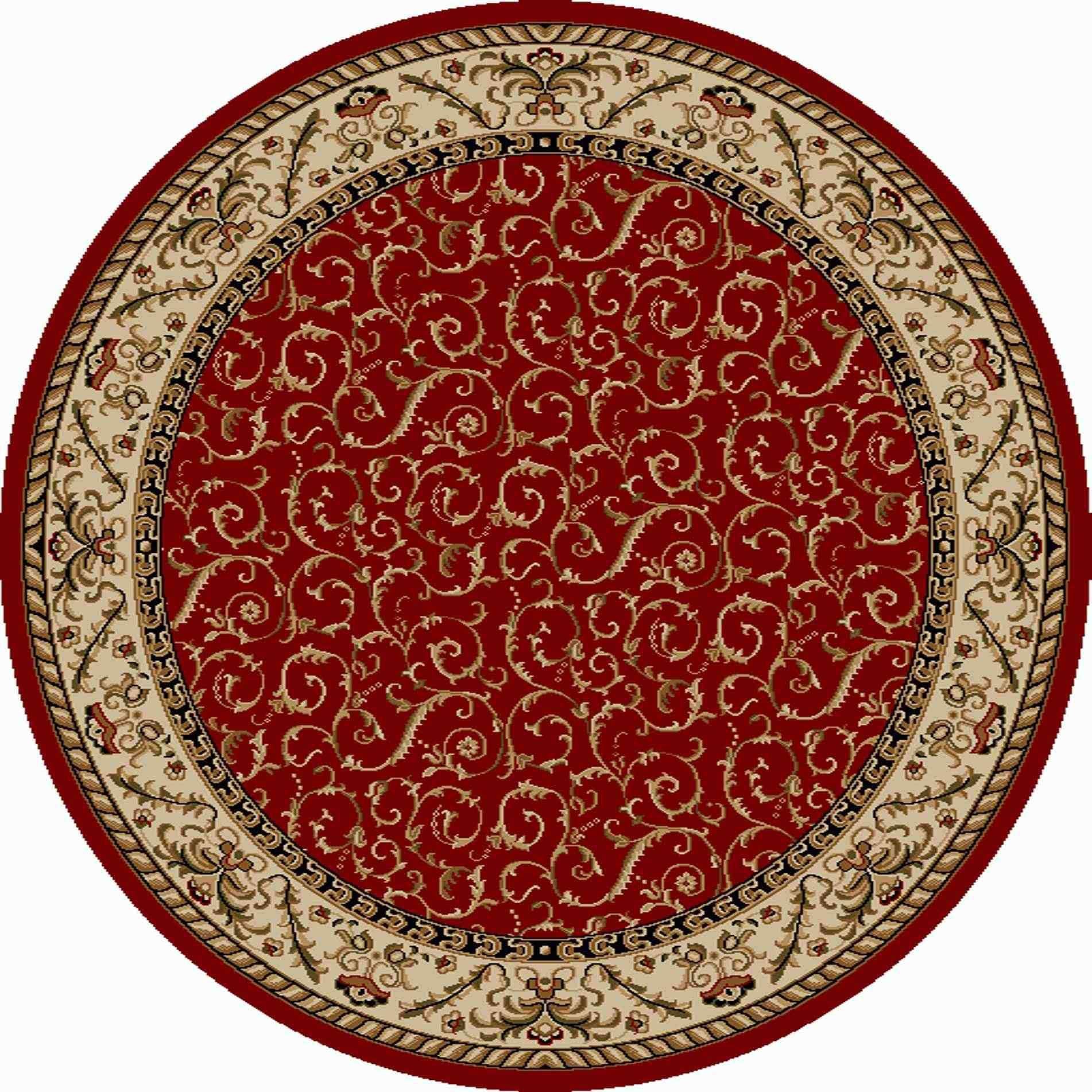 Radici Usa Como 1599 Red Transitional Area Rug