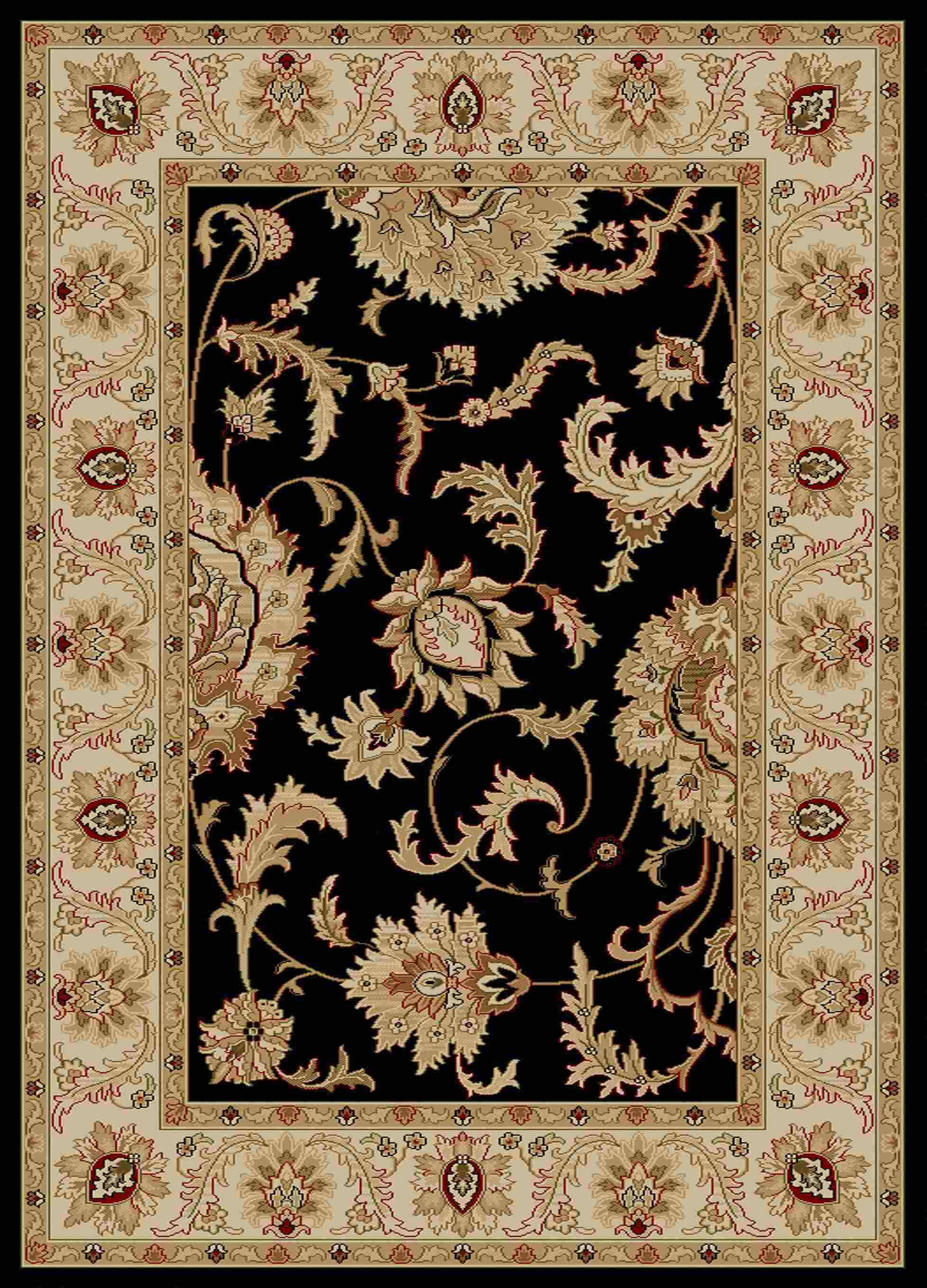 Radici Usa Como 1621 Black Transitional Area Rug
