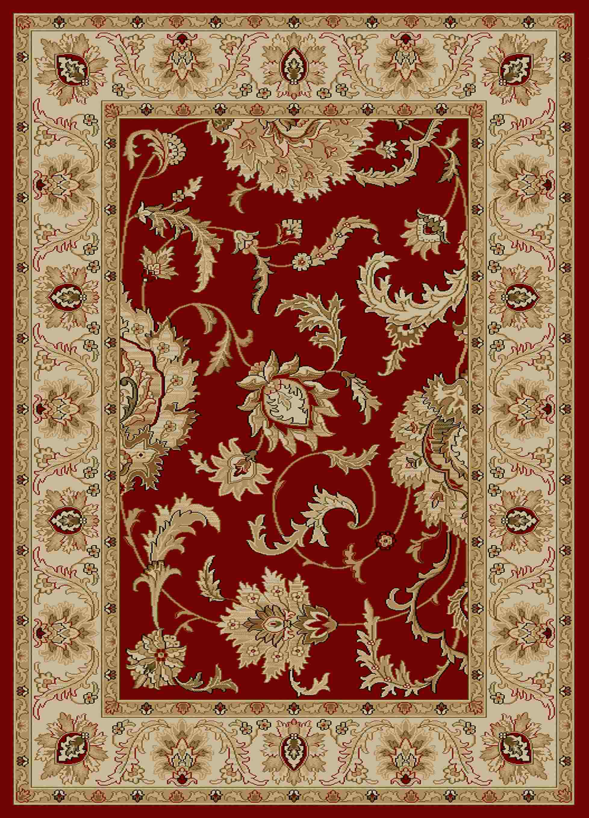 Radici Usa Como 1621 Red Transitional Area Rug