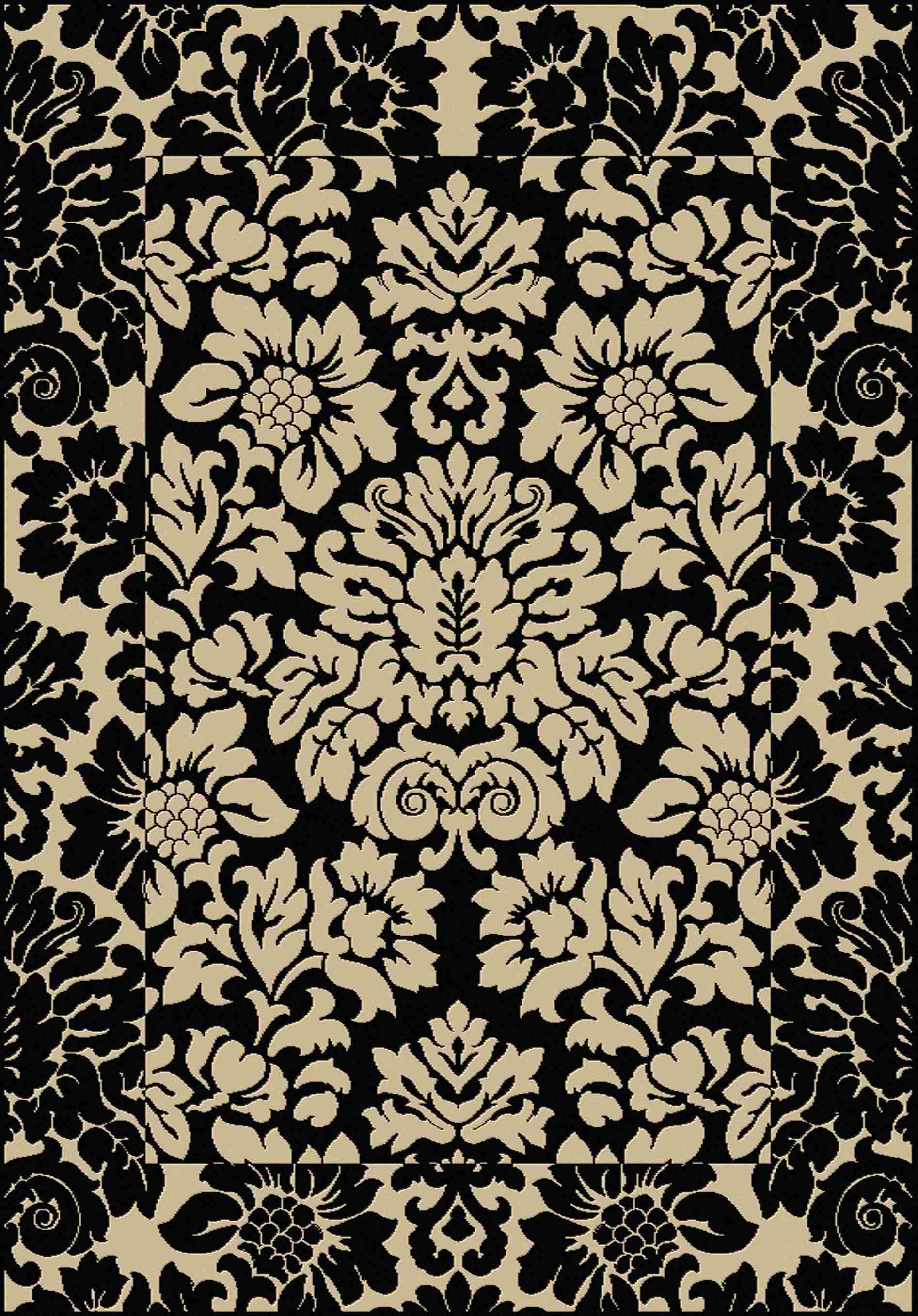 Radici Usa Como 1717 Black Transitional Area Rug