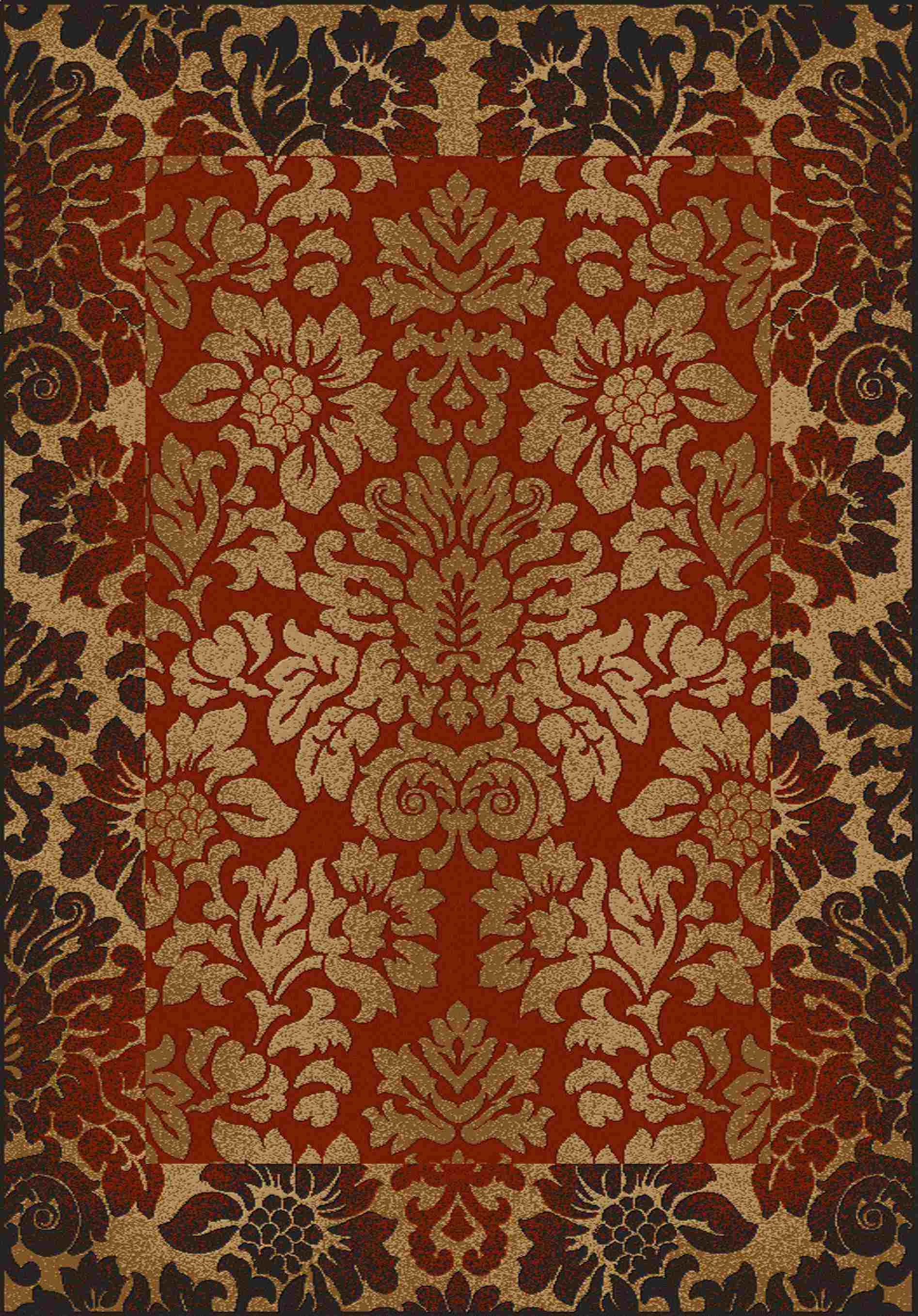 Radici Usa Como 1717 Red Transitional Area Rug
