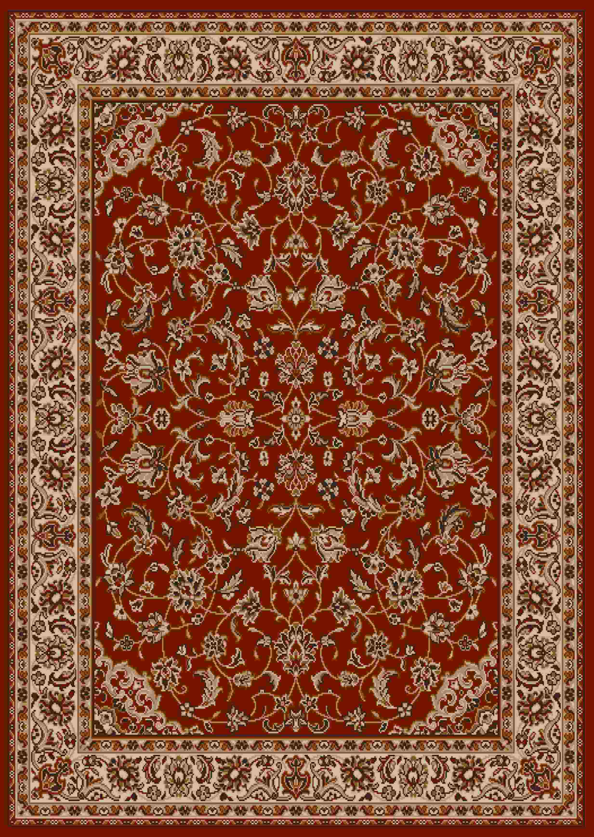 Radici USA Como 1833 red Traditional Area Rug