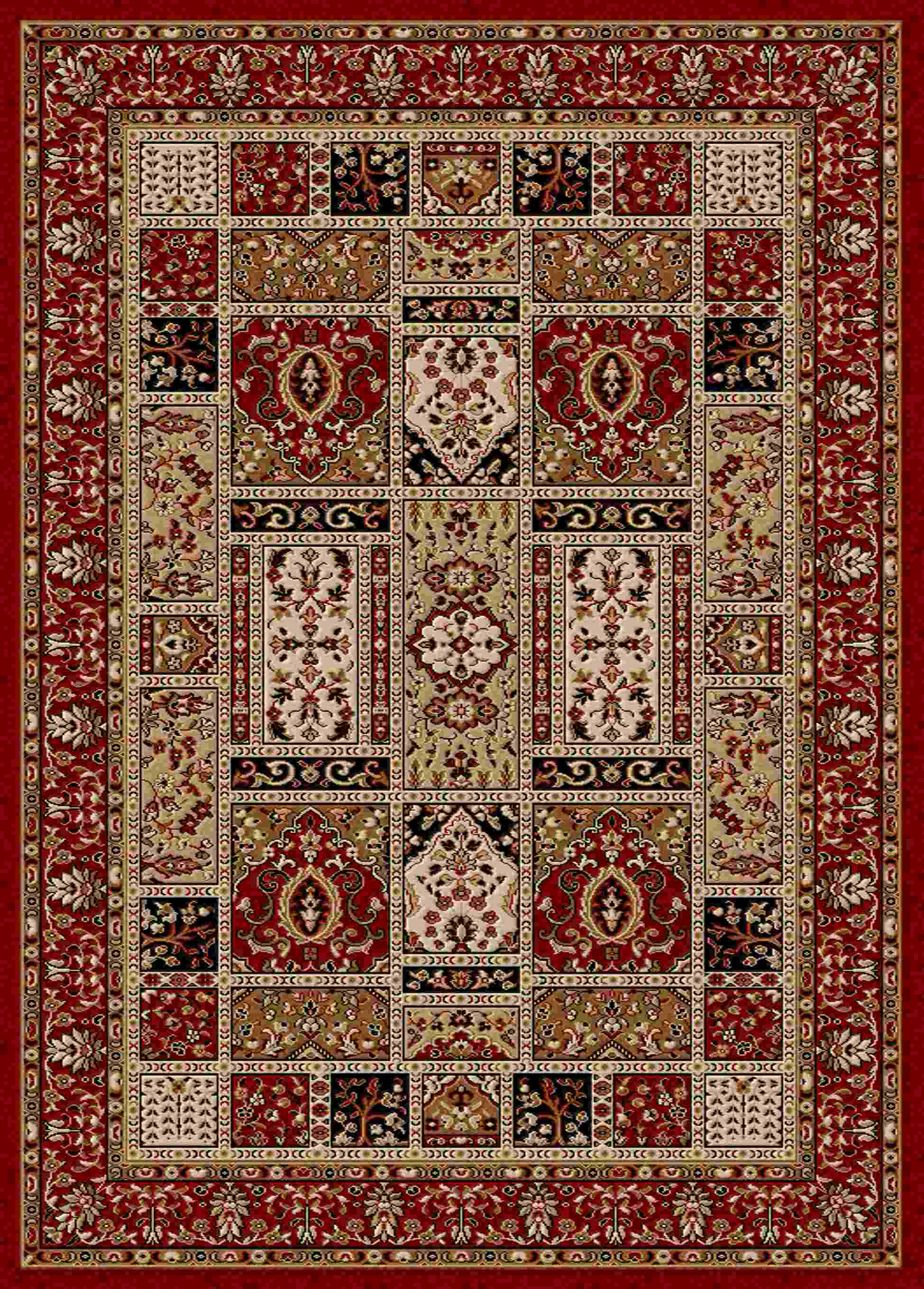 Radici Usa Como 1834 Red Traditional Area Rug