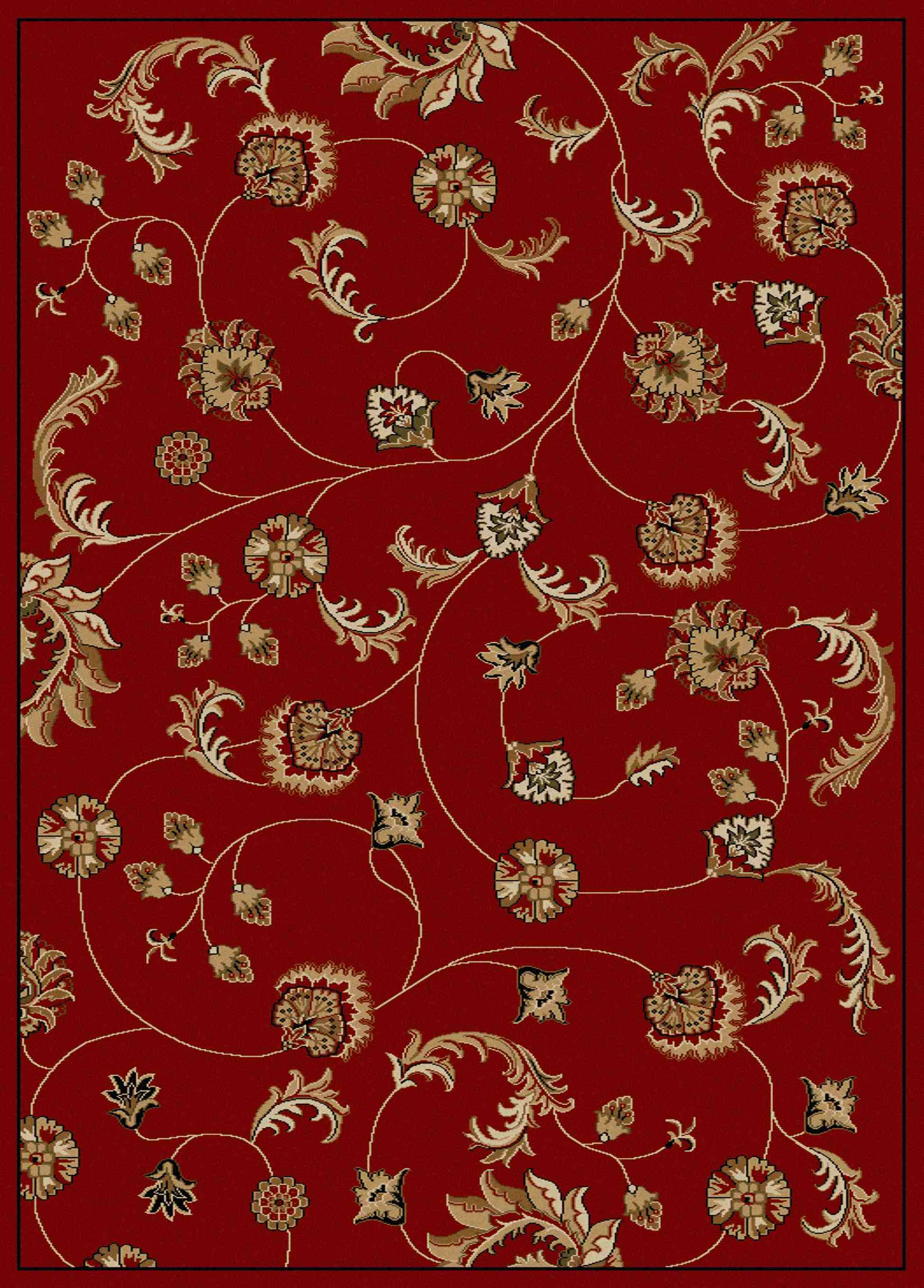 Radici Usa Como 1835 Red Transitional Area Rug