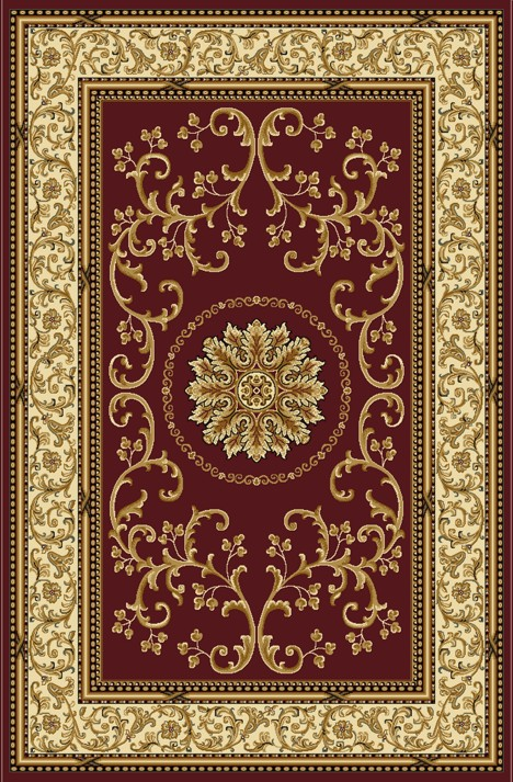 Radici Usa Noble 1419 Burgundy Traditional Area Rug