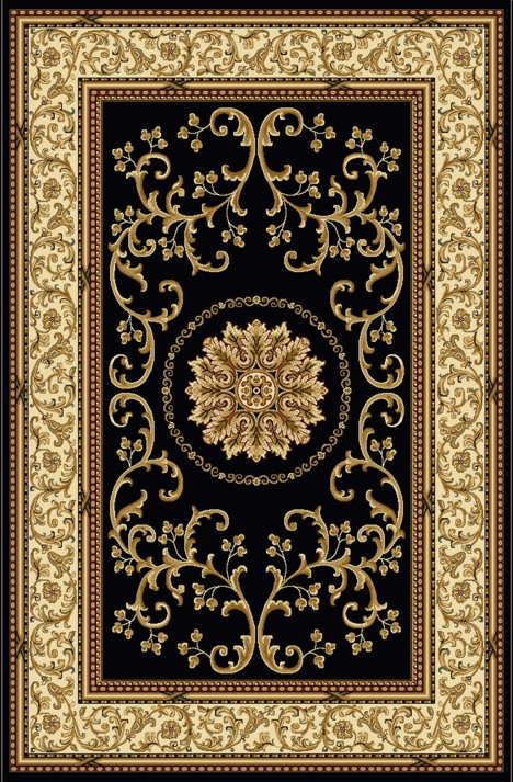 Radici Usa Noble 1419 Black Traditional Area Rug