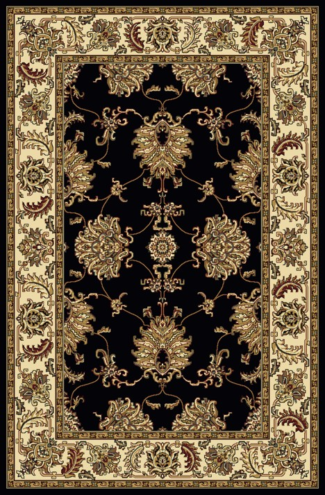Radici Usa Noble 1330 Black Traditional Area Rug