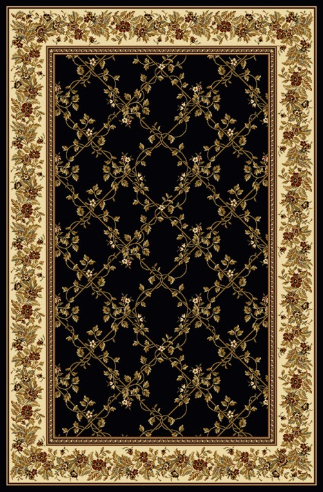Radici Usa Noble 1427 Black Transitional Area Rug