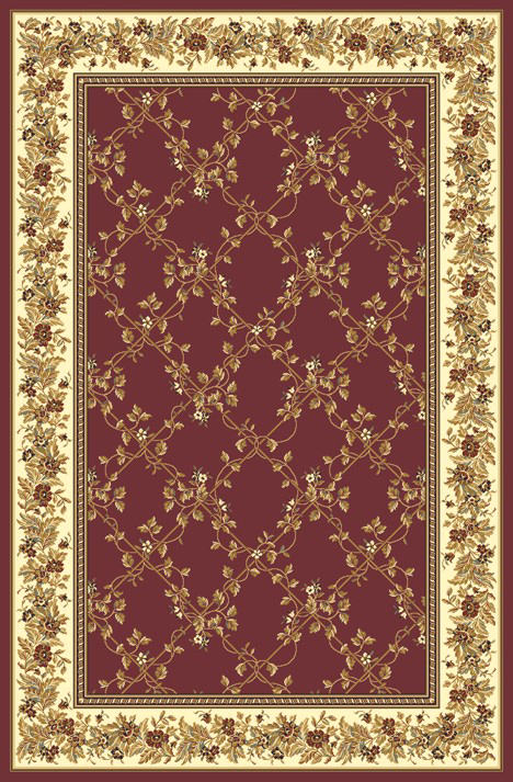 Radici Usa Noble 1427 Burgundy Transitional Area Rug