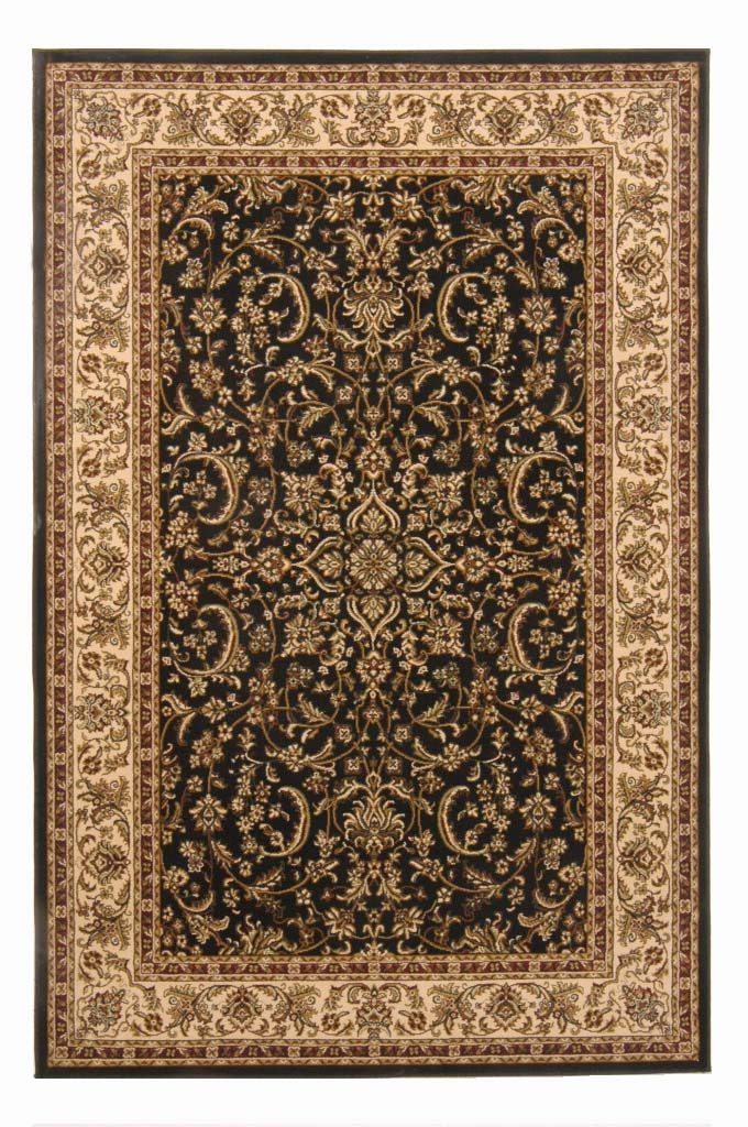 Radici Usa Noble 1318 Black Traditional Area Rug