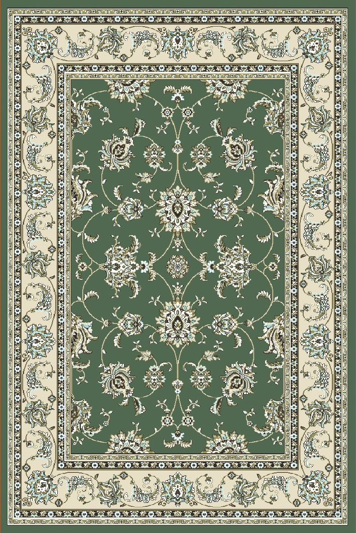 Radici Usa Pisa 1780 Light Green Traditional Area Rug