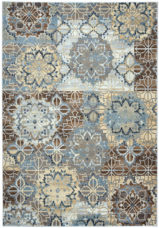 Rizzy Bennington  Bi4611 Blue/yellow Rug