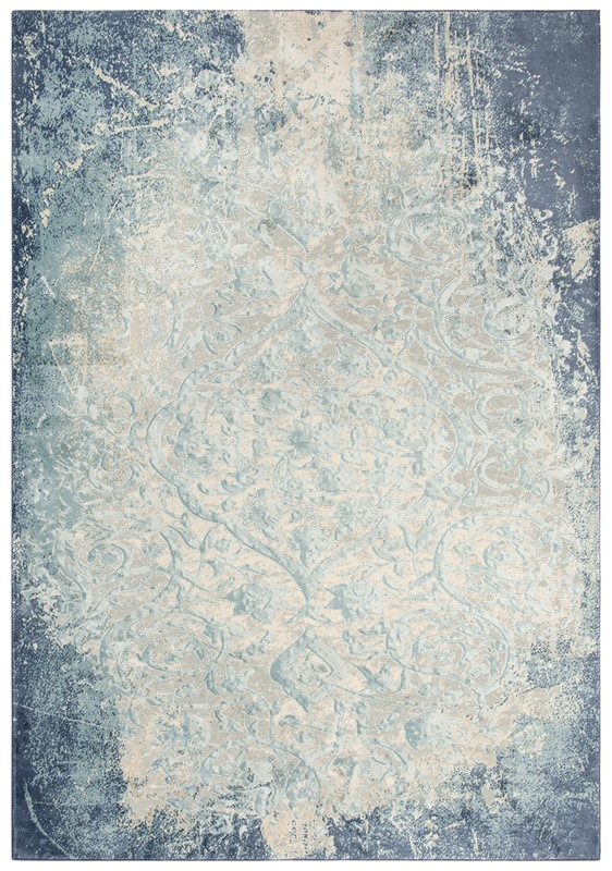 Rizzy Home  Chelsea Transitional Teal-blue Rug Chs101