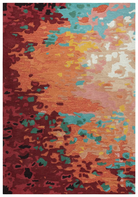 Rizzy Home  Connie Post  Modern Orange Rug Cnp101