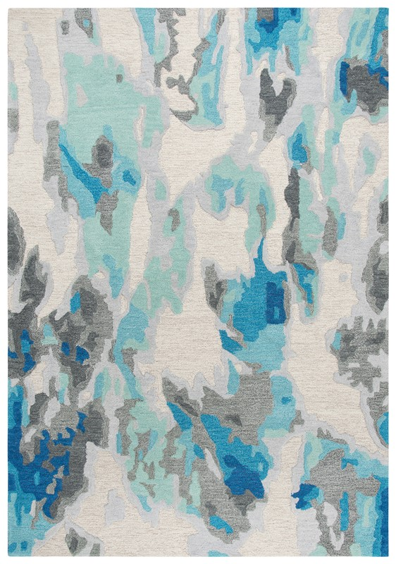 Rizzy Home  Connie Post  Modern Beige-blue Rug Cnp104