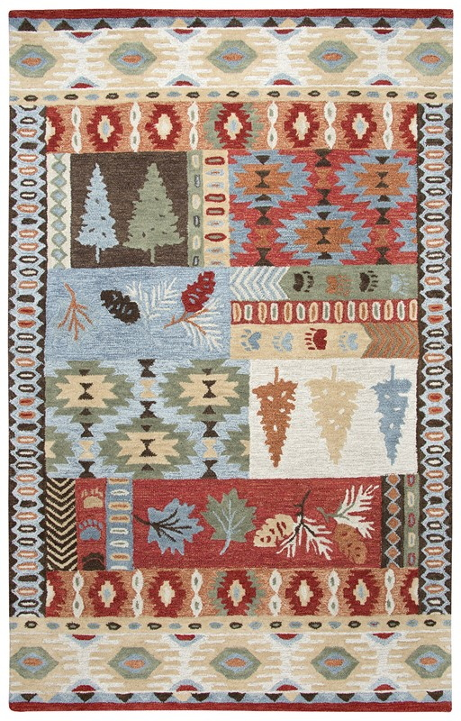 Rizzy Home  Northwoods Lodge Red Rug Nwd101