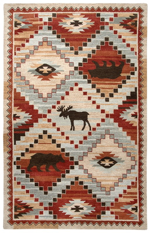 Rizzy Home  Northwoods Lodge Red Rug Nwd103