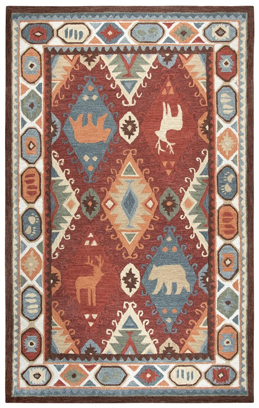 Rizzy Home  Northwoods Lodge Red Rug Nwd106