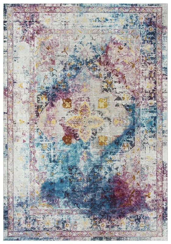 Rizzy Home  Princeton Transitional Cream-blue Rug Pri104
