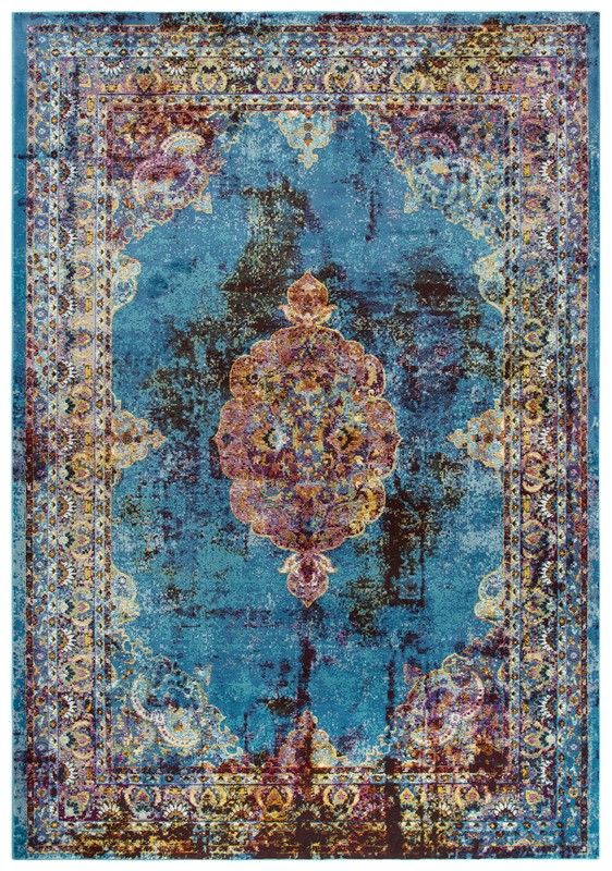 Rizzy Home  Princeton Traditional Blue Rug Pri107