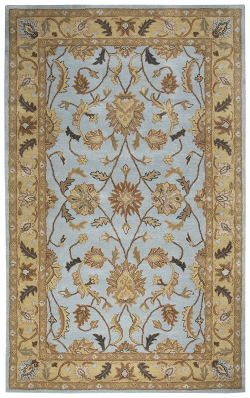 Rizzy Home  Valintino Traditional Pale Aqua  Rug Vn9979